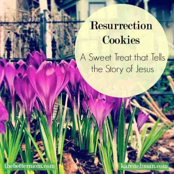 A sweet treat to make with kids that also teaches the story of Easter. Grab a Bible and make Resurrection Cookies!