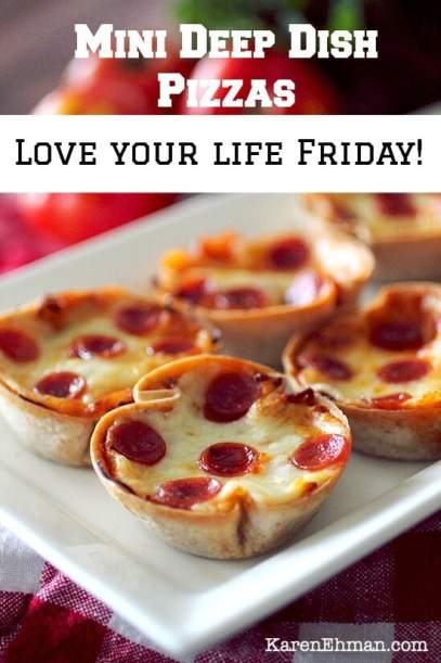 Easy mini pizzas on #LoveYourLifeFriday at karenehman.com