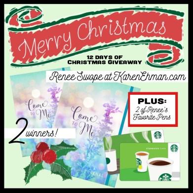 Giveaway at KarenEhman.com