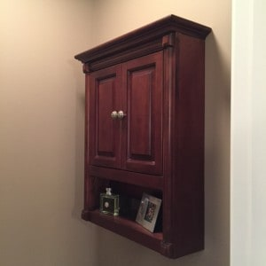 Cabinet for necklace rack