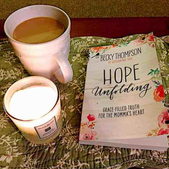 Find hope for the mama heart in Unfolding Hope by Becky Thompson