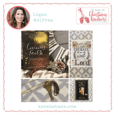 Join Logan Wolfram for a beautiful giveaways during Karen Ehman's 12 Days of Christmas Kindness!