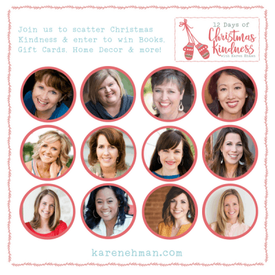Join @Karen_Ehman and friends to #ListenLoveRepeat for #12DaysOfChristmasKindness + Giveaways!