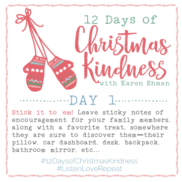 12 Days of Christmas Kindness – Day One