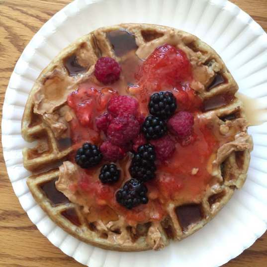 Buttermilk Whole-Grain Oat Waffles by Karen Ehman for Love Your Life Friday. Click here for recipe with pictures.