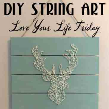 DIY String Art by April Wilson for #LoveYourLifeFriday