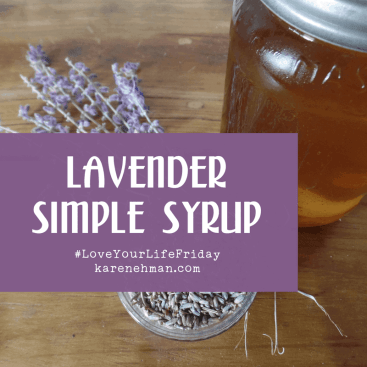 Lavender Simple Syrup for #LoveYourLifeFriday