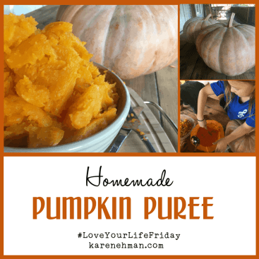 Homemade Pumpkin Puree for #LoveYourLifeFriday