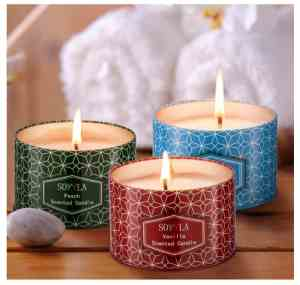 3 pack soy candles lavender vanilla peach; 12 Fabulous Gifts for Friends at karenehman.com.