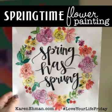 Springtime Flower Painting Tutorial for #LoveYourLifeFriday