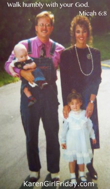 My family in the 90's for Old Fashioned Day at Church