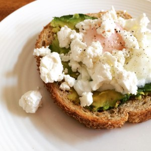 Poached Egg with Avocado and Goat's Cheese