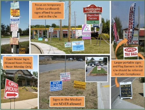 City of Greensboro Cracks Down on Illegal Signs