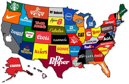 Fascinating Graphic of Famous U.S. Brands