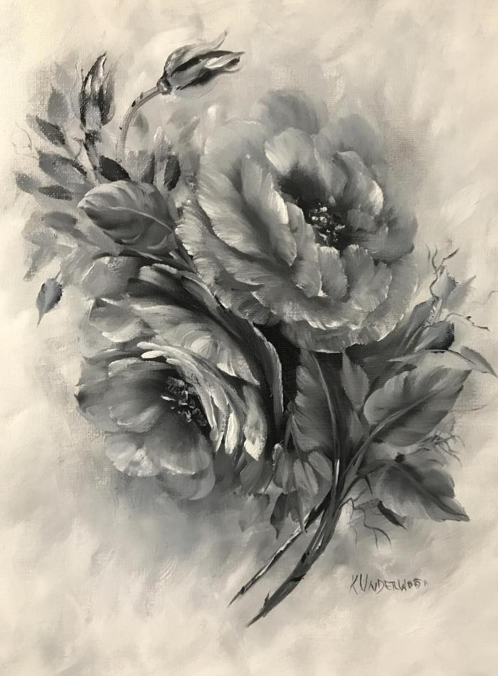 Black and White Roses - Karen Underwood