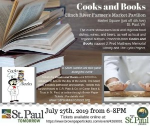 Cooks and Books flyer