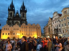 Nighttime in Prague