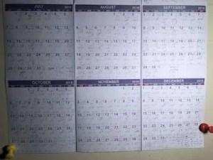 last half of calendar sm