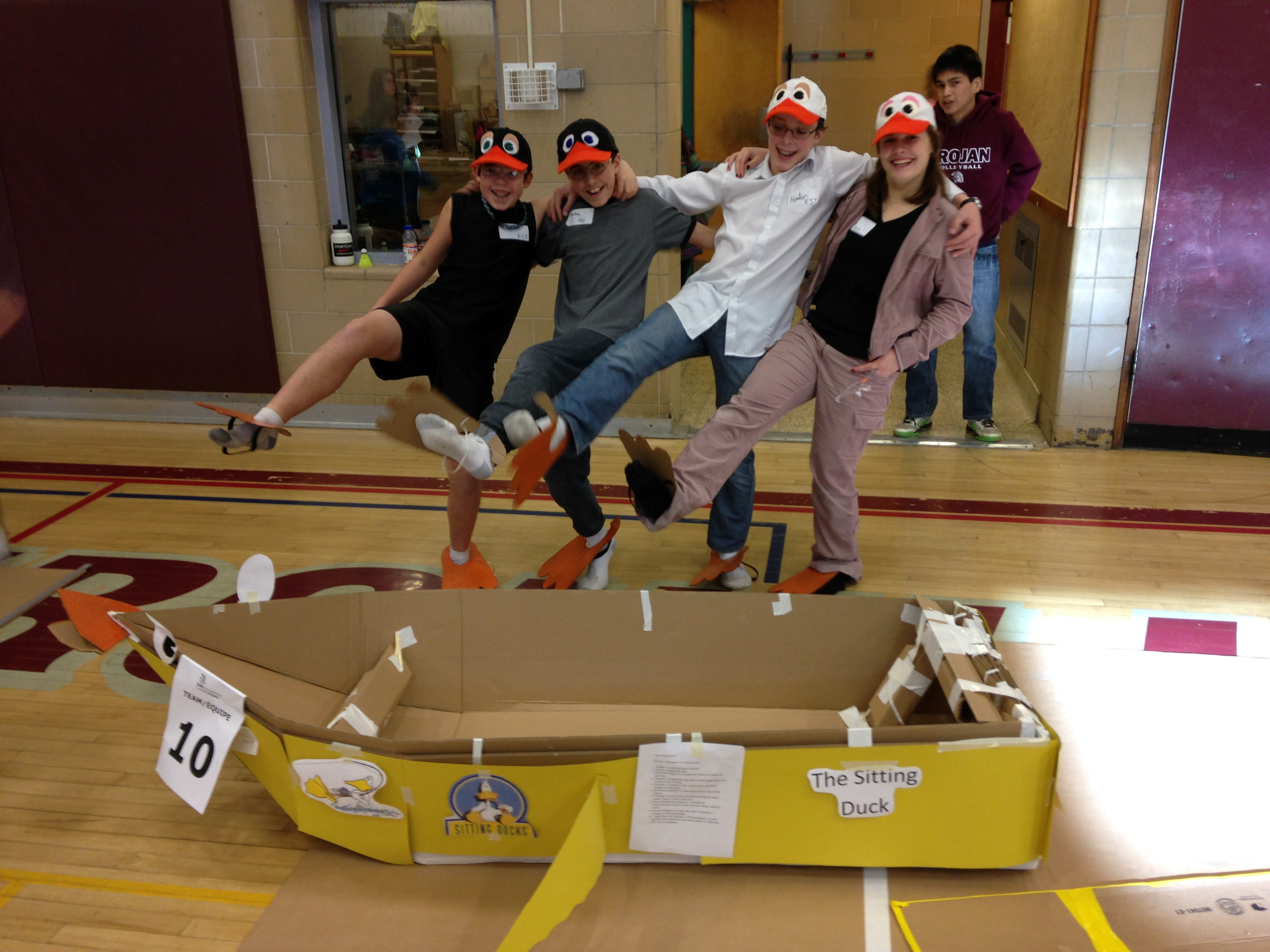 One Of Cscnos Carboard Boat Racing Teams Photo Cscno