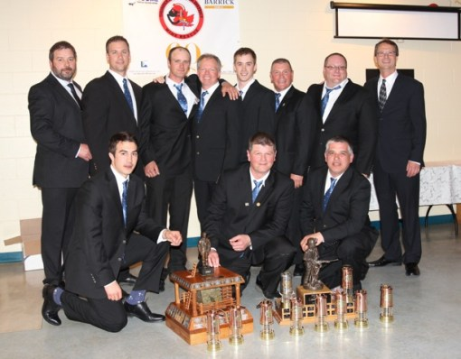 Thunder Bay-Algoma Mine Rescue Competition 1st place team from Barrick-Hemlo. Photo by Linda Osiecki
