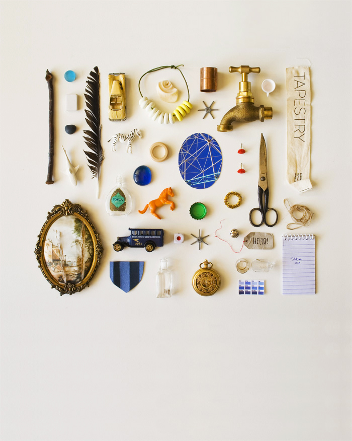 Small object things arranged neatly by Karina Sharpe