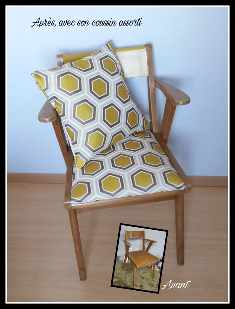 karine meteyer chaise année 50 relookée saint nazaire