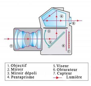 Schéma d'un réflex numérique