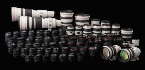objectifs et appareils photos canon