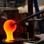 Moule aquatique verre chaud Lalique