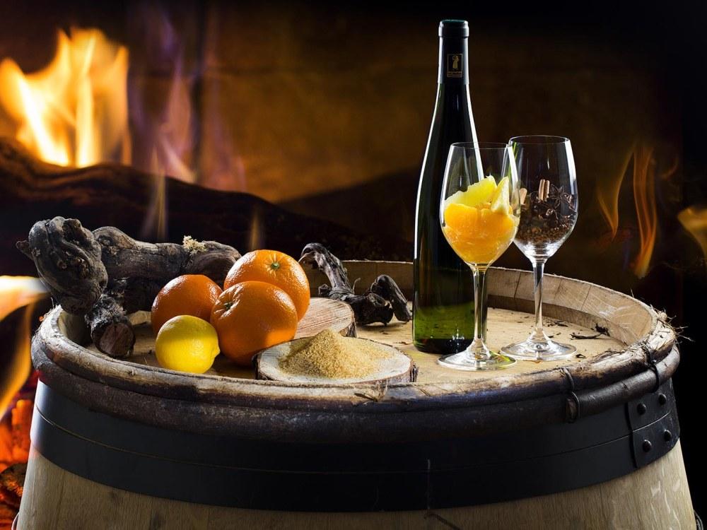 Vin chaud au blanc d'Alsace