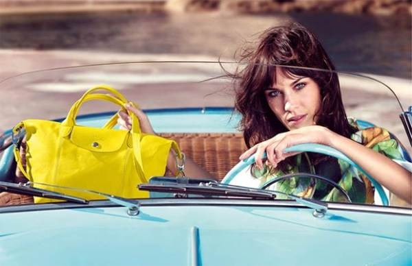 Alexa Chung é a nova garita propaganda da  Longchamp