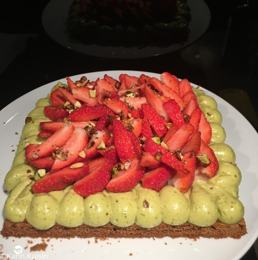 Tarte fraise pistache