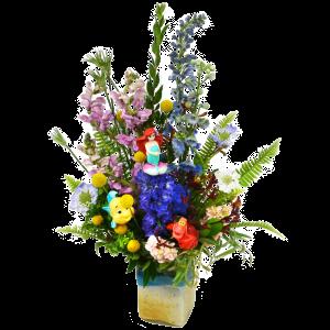 ariel-and-friends-flower-arraingement