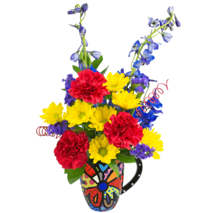 Britto Butterfly Flower Mug