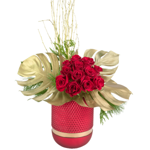 Golden Rose Holiday Bouquet