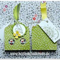 Liebe Grüße Osterhäschen Stanze Gewellter Anhänger vorne hinten