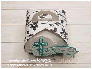 Zierschachtel für Andenken - Konfirmation - Karin's Kreativkiste