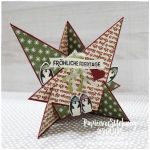 Sternenkarte Leuchtende Weihnachten Karins Kreativkiste