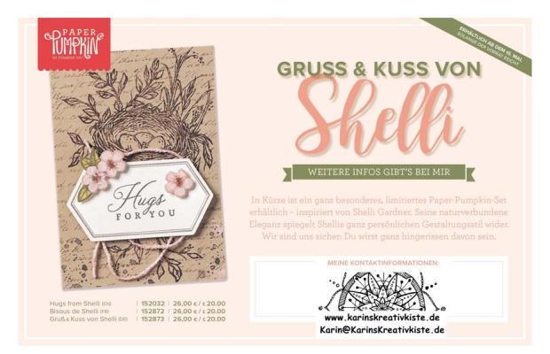 Paper-Pumpkin-Set Gruß und Kuss von Shelli - Infoflyer Kontakt