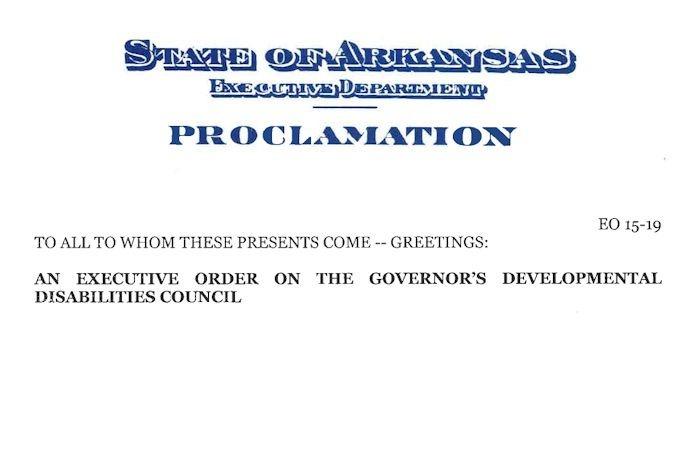 Hutchinson Executive Order Developmental Disabilities Council_3263477961265334221