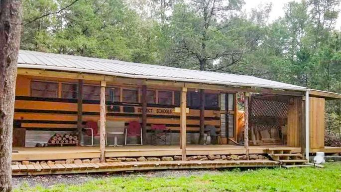 School Bus Converted into Home in Clinton for Sale