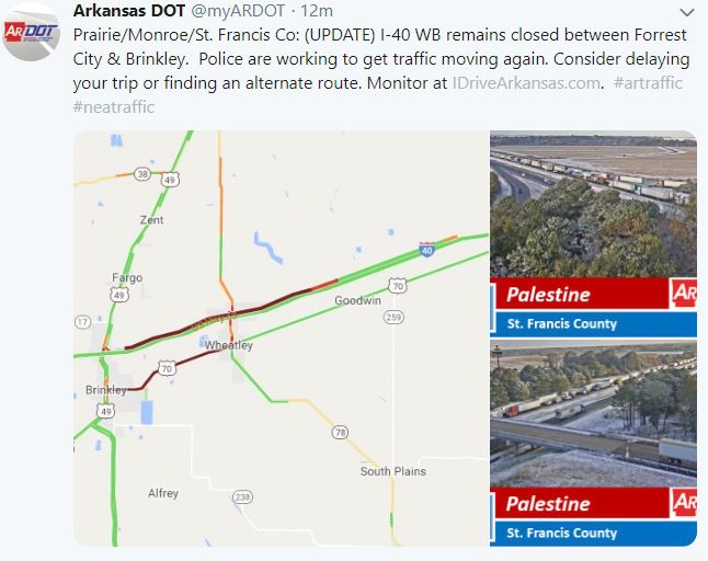 Update: I-40 Westbound Traffic Resumes in Eastern AR on us 40 california map, blue ridge parkway road map, california road map, i-40 albuquerque, i-40 memphis, i 40 arkansas map, i-40 sign, i-40 crash, i-40 interstate conditions, i-40 oklahoma, i 40 california map, i-40 new mexico, us highway 40 map, i-40 highway, rt 40 map, interstate 20 map, 40 freeway map, i-40 arizona, interstate 80 west map, i 40 texas map,