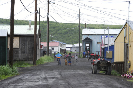 Yup'ik village of Stebbins on Norton Sound