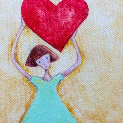 In the Studio… Bible Journaling Inspired Painting