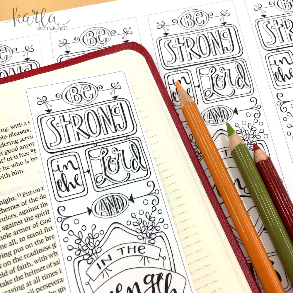 Ephesians 5-6 Color-Your-Own Bible Journaling Bookmarks