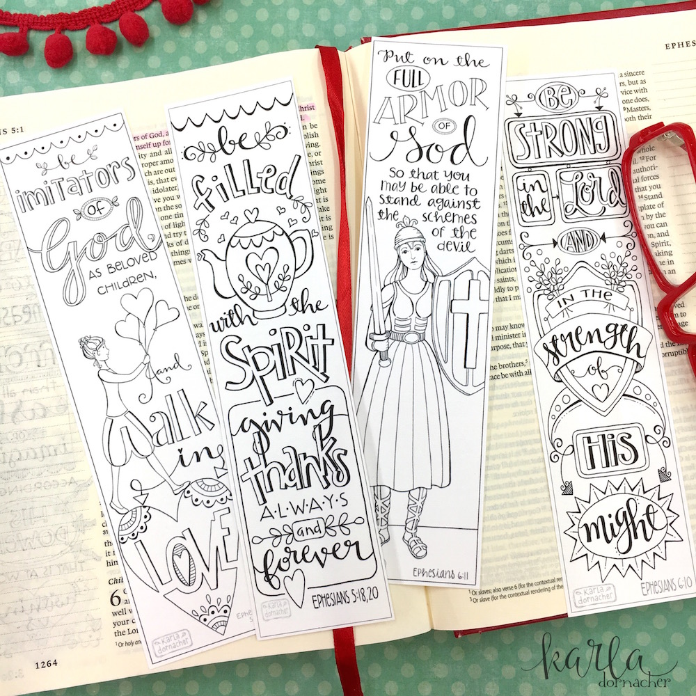 Ephesians 5 6 Color Your Own Bible Journaling Bookmarks