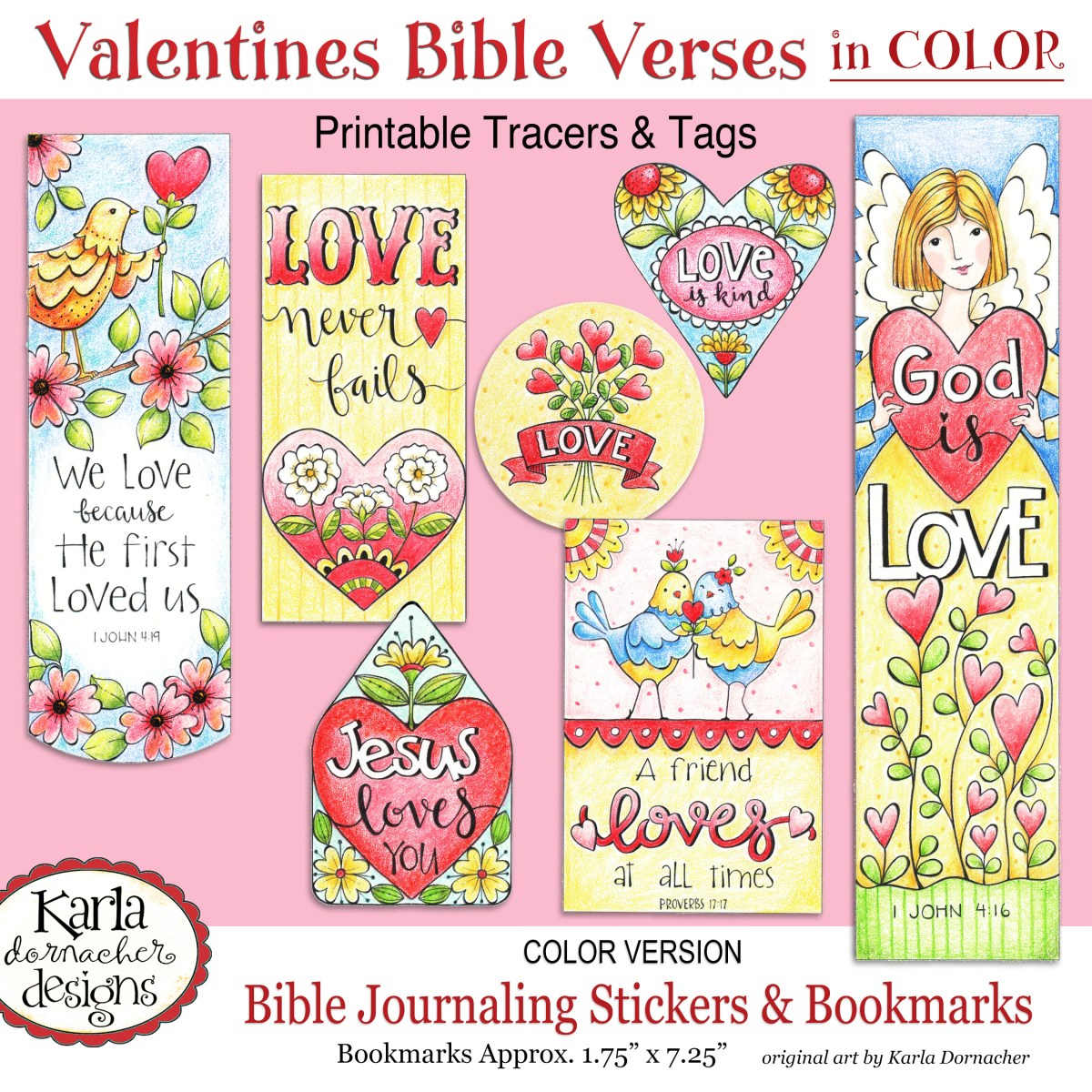 Valentine Love – Full Color – Bible Journaling Printable ...