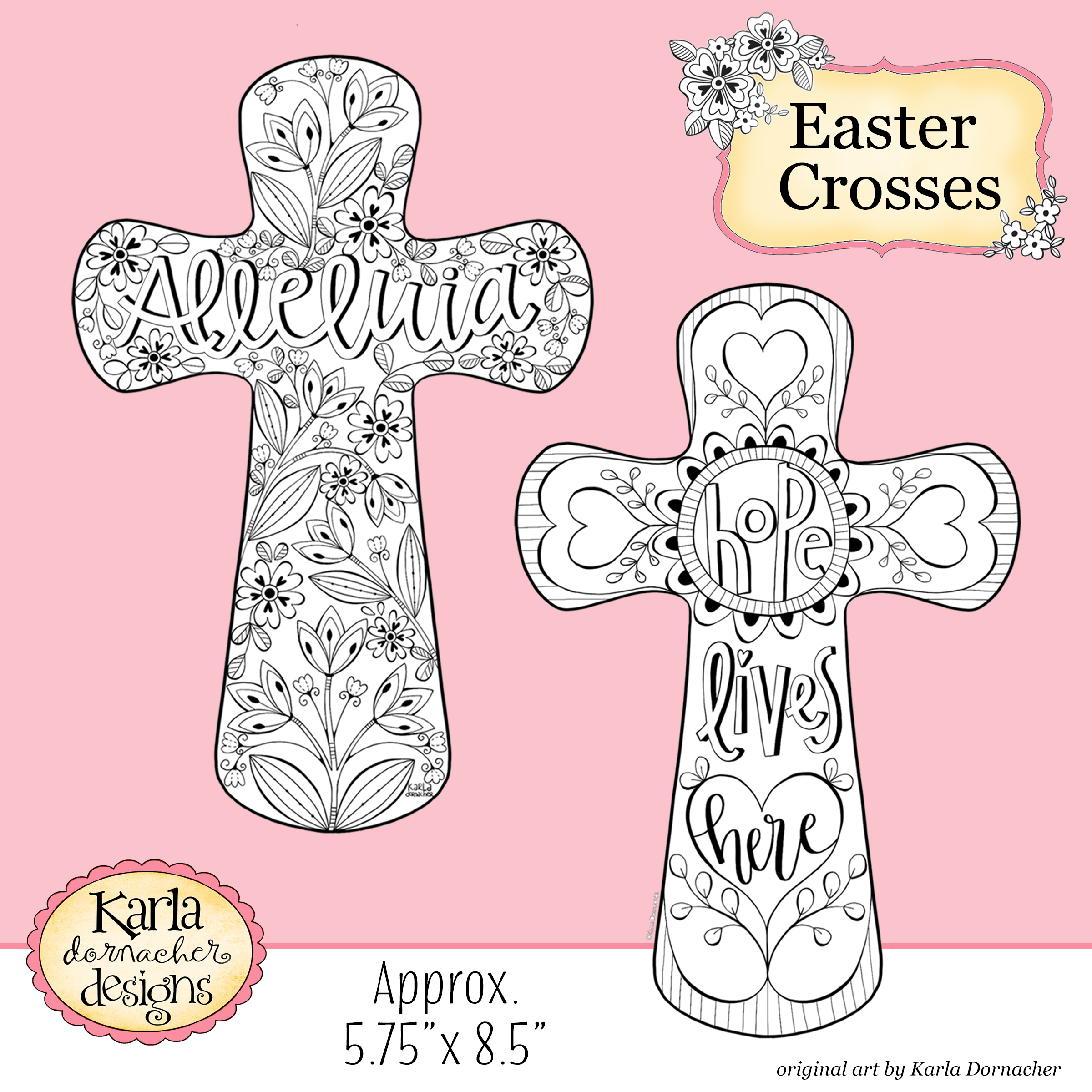 Easter Crosses Coloring Collection