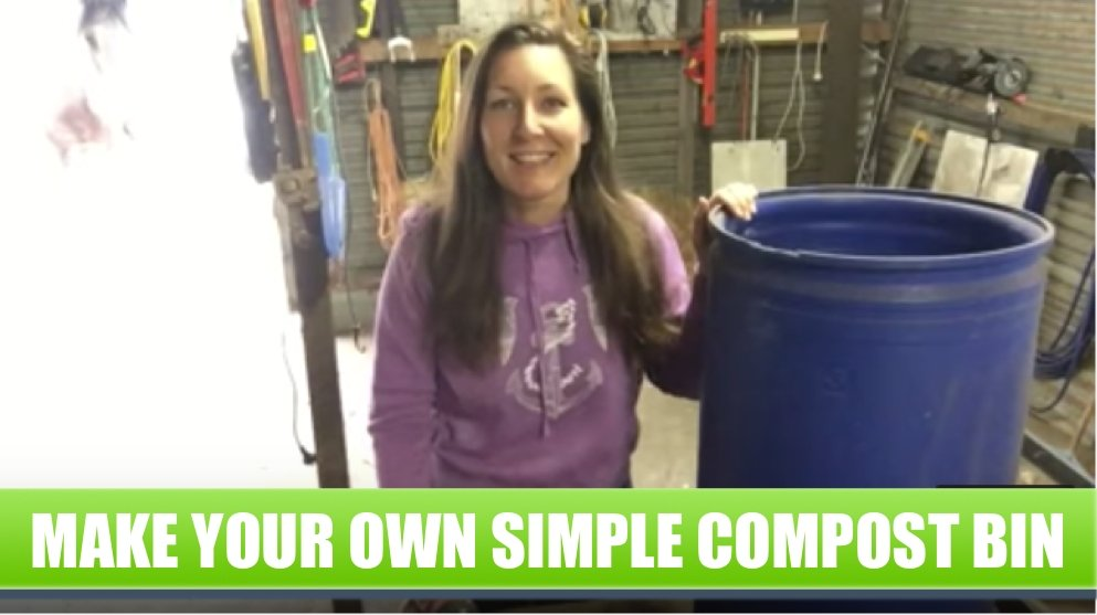How to make a simple home compost bin