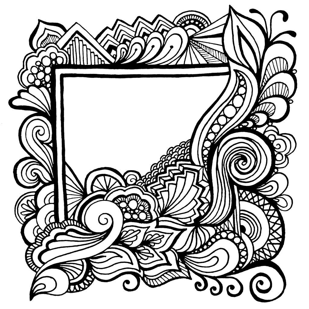 Floral Frame 2 Color Amp Quilt Karlee Porter